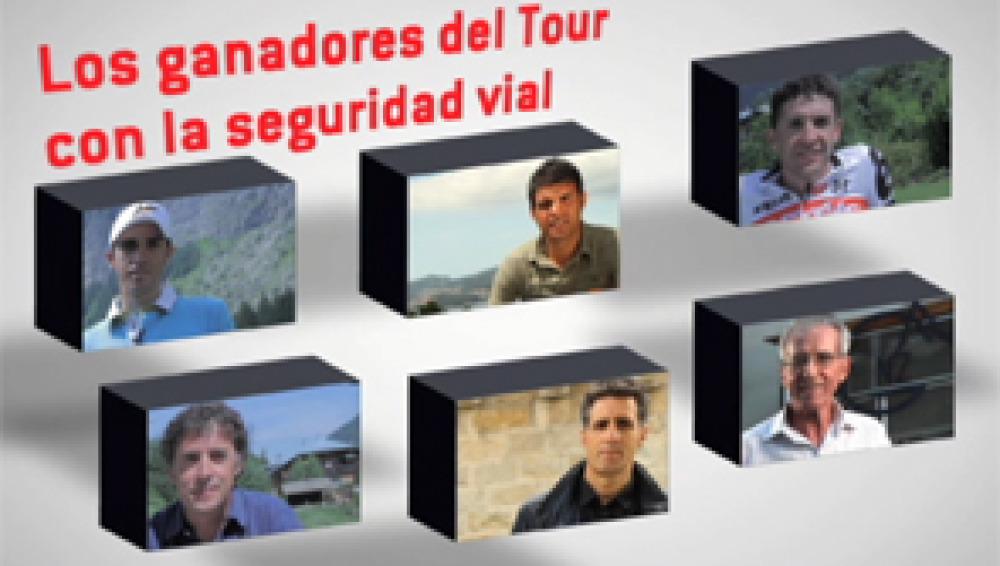 Los ganadores del Tour con la seguridad vial