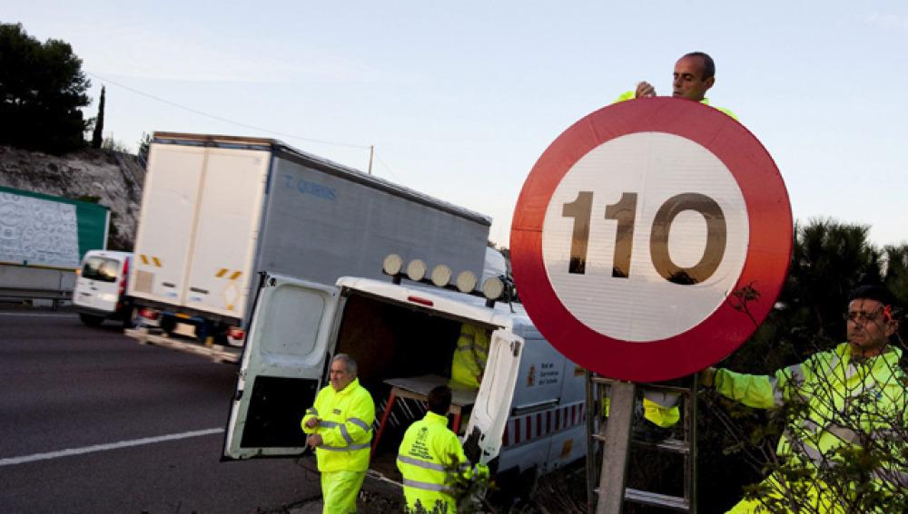 Nuevas señales de 110 kilómetros por hora
