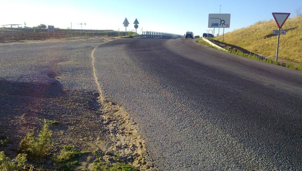Punto kilométrico 22.500 ¿Dónde está la línea continua?