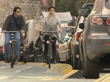 Carril bici en Pamplona