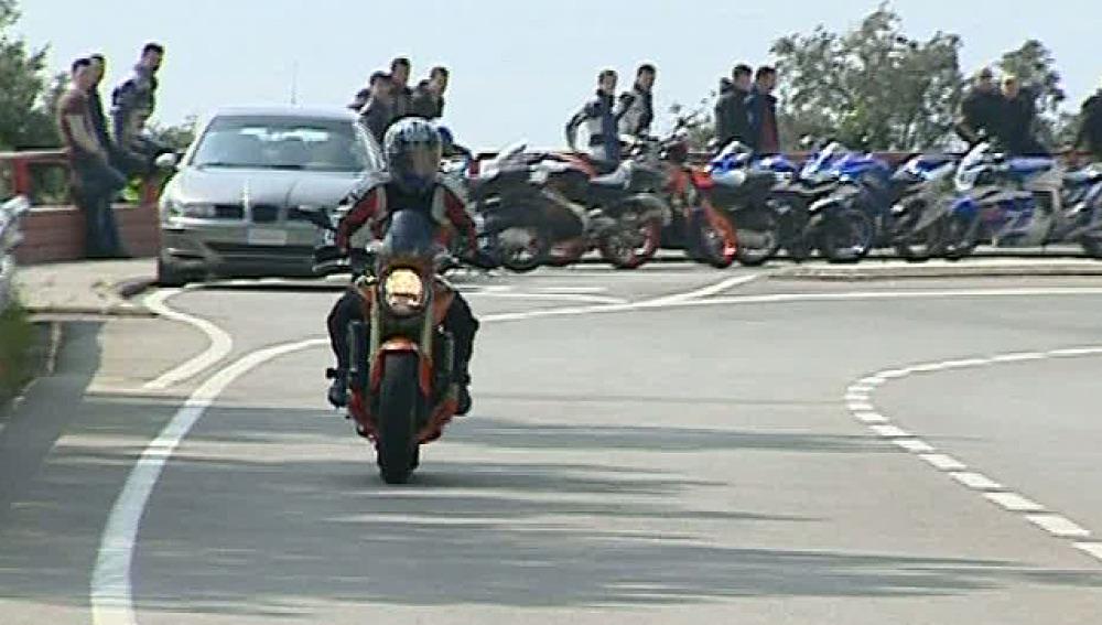 Motorista en Cataluña