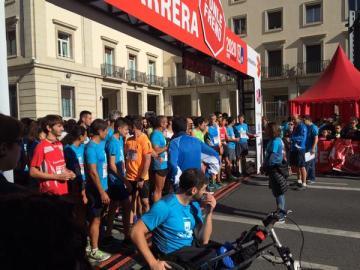 La línea de salida de la II carrera Ponle Freno en VItoria