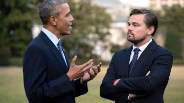 Barack Obama y Leonardo DiCaprio se unen contra el cambio climático