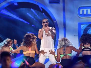 Maluma, durante un concierto