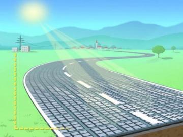 Las carreteras solares captan energía limpia y permiten la recarga de los vehículos en marcha