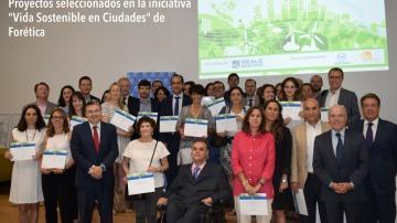 Foto de grupo de las iniciativas seleccionadas por Forética