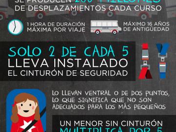 Infografía: Transporte escolar en España