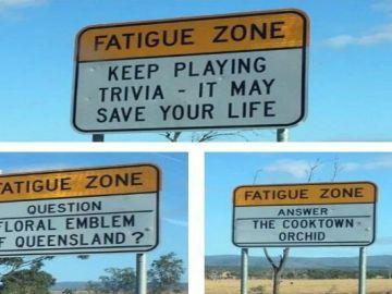 Un trivial en la carretera, la genial idea de Australia para evitar dormirse al volante