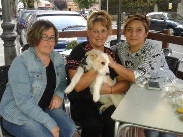 Enma, Teresa y Ana , con Valentina
