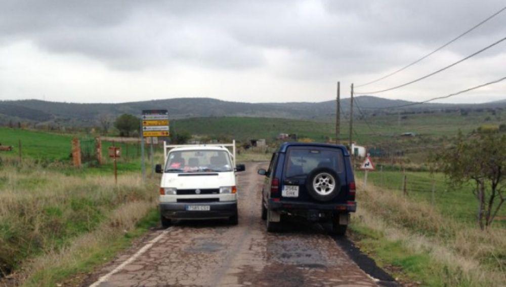 Carretera CR-5021 (tramo Cabezarrubias del Puerto-Brazatortas) insegura y en mal estado.