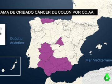 Programa de cribado de cáncer de colon por CCAA