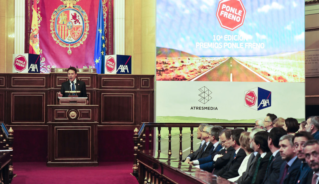 Matías Prats, en la décima edición de los Premios Ponle Freno