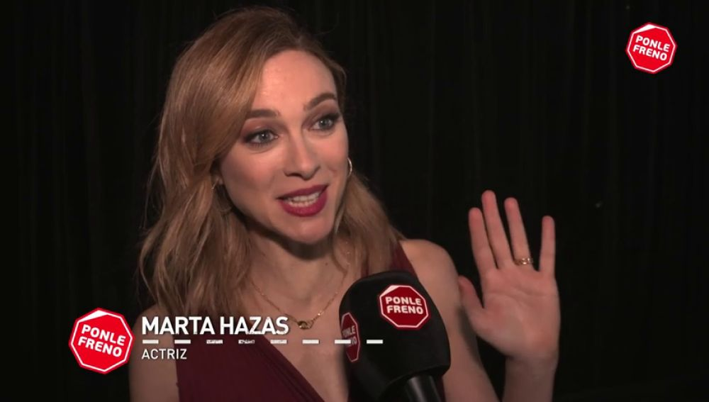"""Marta Hazas """"Agradezco que Ponle Freno lleve una década concienciando sobre lo importante que es la seguridad vial"""""""