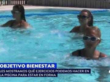 ¿Qué ejercicios podemos realizar en la piscina para estar en forma?