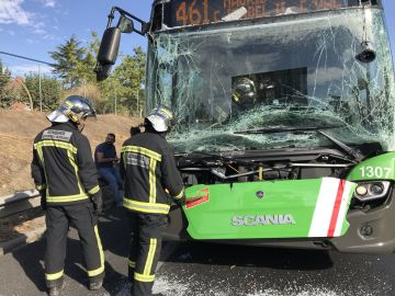 Accidente múltiple a la A-42 a la altura de Getafe