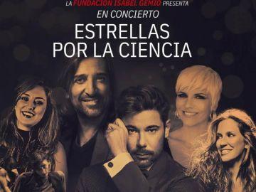 Cartel del concierto benéfico organizado por la Fundación Isabel Gemio: 'Estrellas por la ciencia'