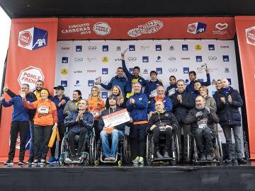Las asociaciones reciben la recaudación de la Carrera Ponle Freno de Madrid 2018