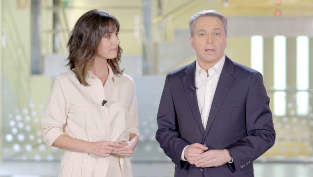 Esther Vaquero y Vicente Vallés te piden que si conoces a una mujer que sufre maltrato le ayudes