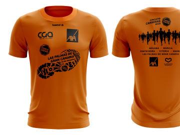 La camiseta de la Carrera Ponle Freo de Las Palmas de Gran Canaria