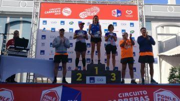 Los ganadores de la categoría femenina de 10 km