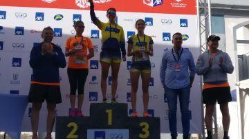Los ganadores de la categoría femenina de 5 km