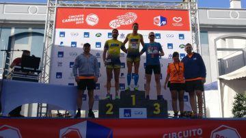 Los ganadores de la categoría masculina de 10 km
