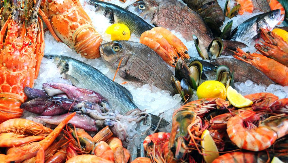 Pescado en una pescadería