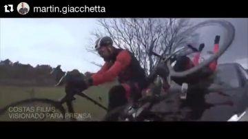 El vídeo del brutal atropello al actor Dani Rovira mientras rodaba un documental en bicicleta