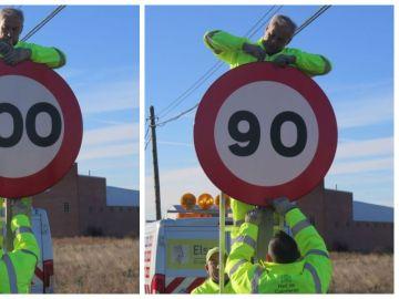 Cambio de señales de 100 a 90