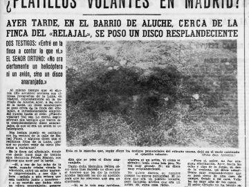 Noticias sobre el fenómeno UFO en Aluche