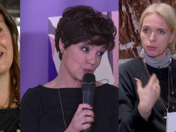 Rosario Raro, Cristina Villanueva y Annette Hess en Crea Lectura