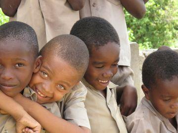 Niños en Jamaica