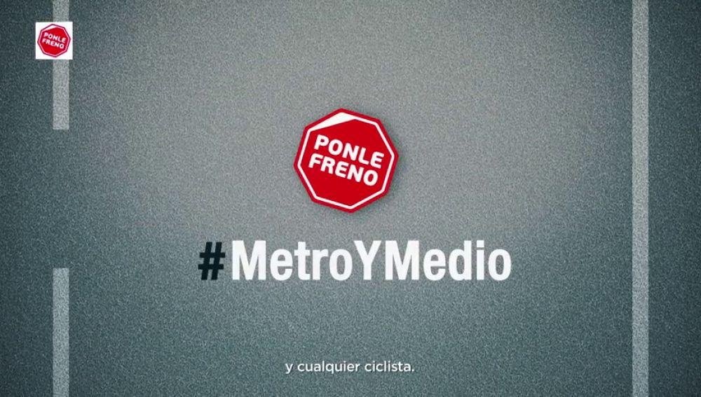 #MetroyMedio, la distancia mínima entre un coche y cualquier ciclista