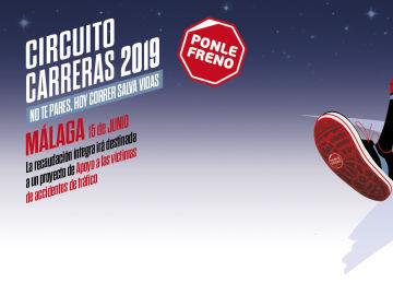 Cartel Ponle Freno Málaga Carrera Nocturna