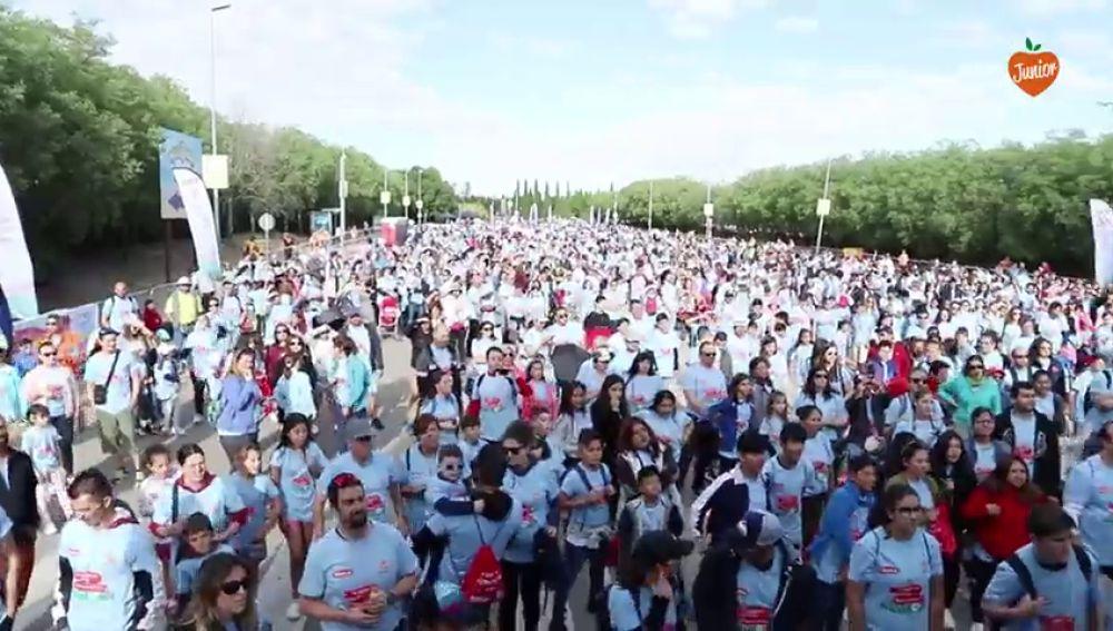 Más de 5.000 personas participan en la Marcha de Objetivo Bienestar Junior 2019