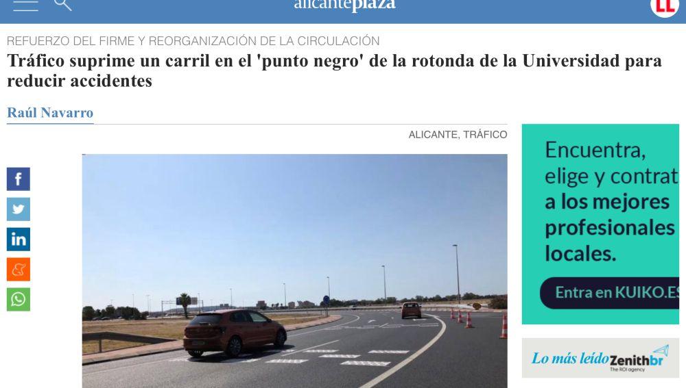 Rotonda Universidad de Alicante