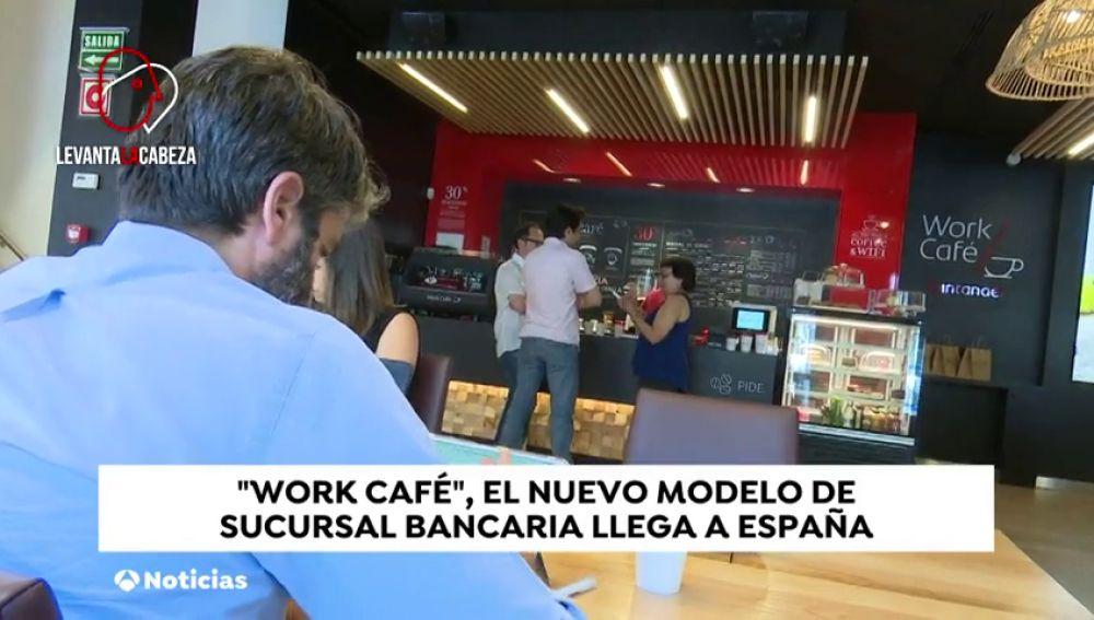 """""""Work-café"""": un espacio para trabajar y tomar algo dentro de una sucursal bancaria"""