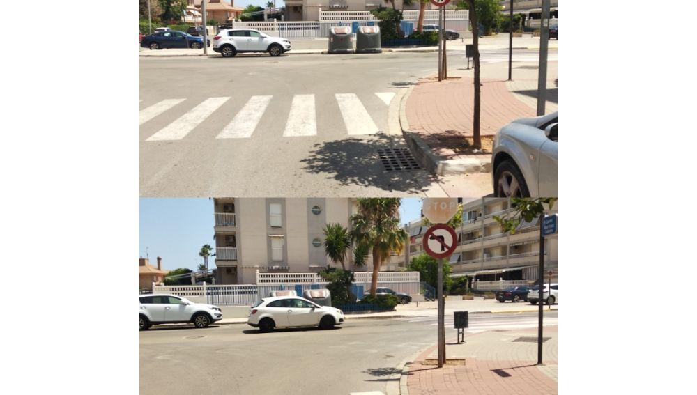 Cambiar señal deteriorada y marcar línea de stop