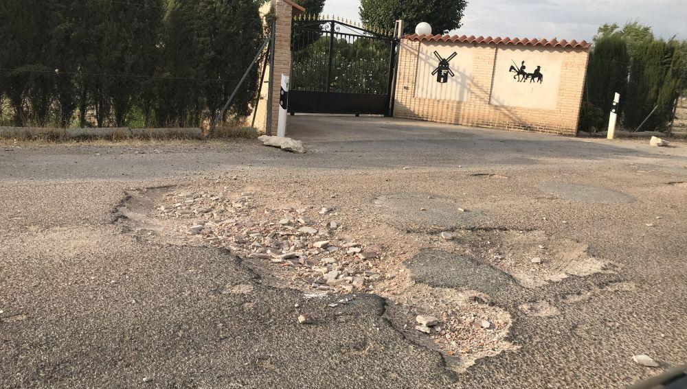 Pésimo estado de caminos aledaños a Ciudad Real