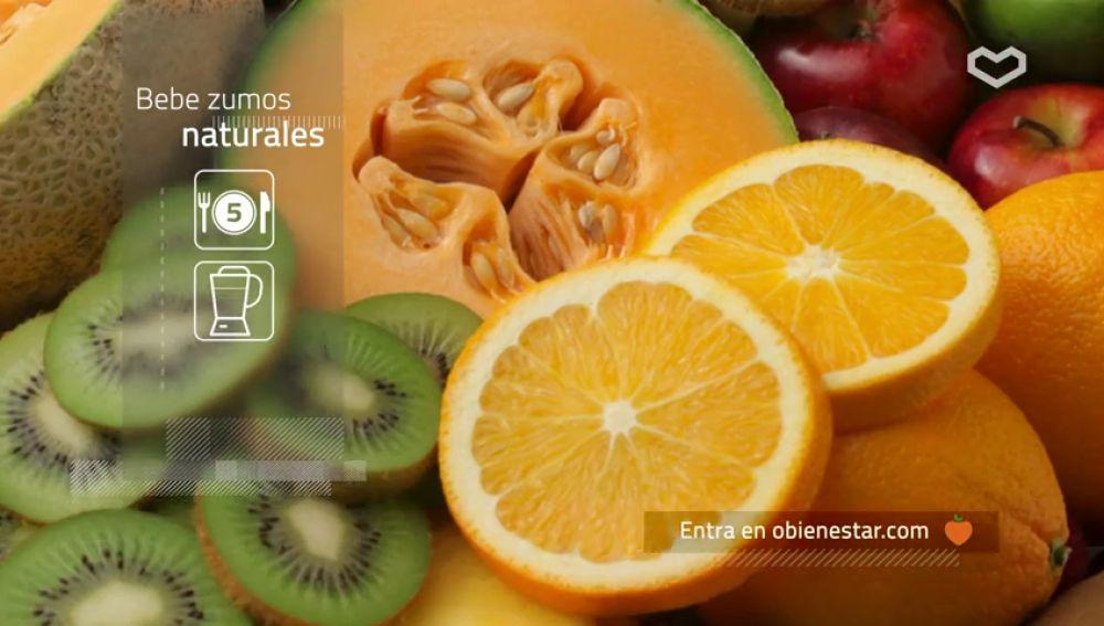 Come cinco piezas de fruta al día