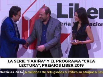 'Fariña' y 'Crea Lectura' recogen sus Premios Liber 2019