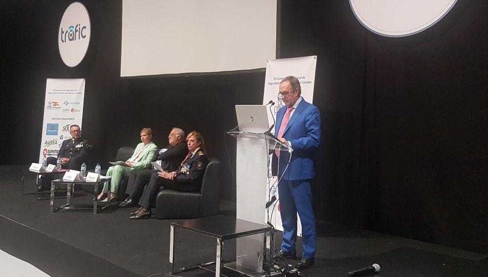Luis Montoro durante los VIII Premios Fesvial a la seguridad vial