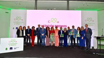Foto de familia de los Premios Constantes y Vitales