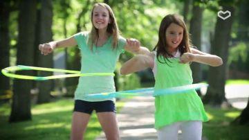 Ponte en forma con el hula hoop