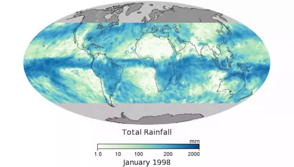 Mapa del total de precipitaciones