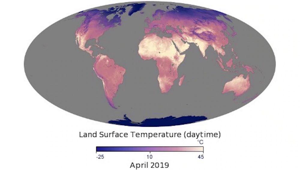Mapa De La Temperatura De La Superficie Terrestre Hazte Eco