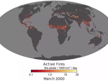 Mapa de los incendios mundiales