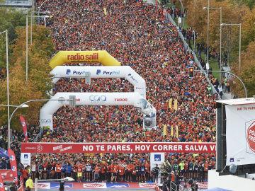 La salida de la 11 ª Carrera Ponle Freno de Madrid