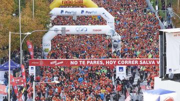 La marea naranja de la 11ª Carrera Ponle Freno de Madrid