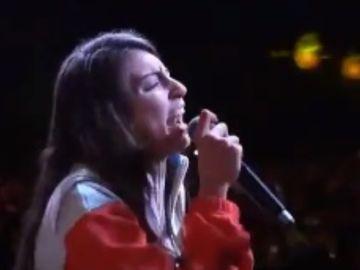 La rapera Sara Socas en plena batalla de gallos